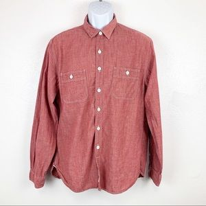 J Crew Authentic Workwear Long Sleeve Button Down